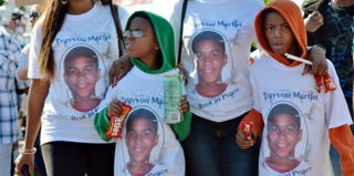 Trayvon Martin protest rally and town hall meeting in Sanford, Fla. (Roberto Gonzalez/Getty Images News)