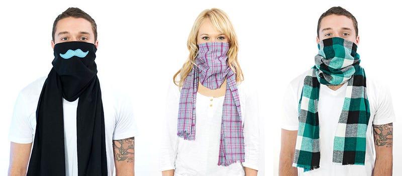 Illustration for article titled Scough, una bufanda con filtro contra la contaminación y los gérmenes