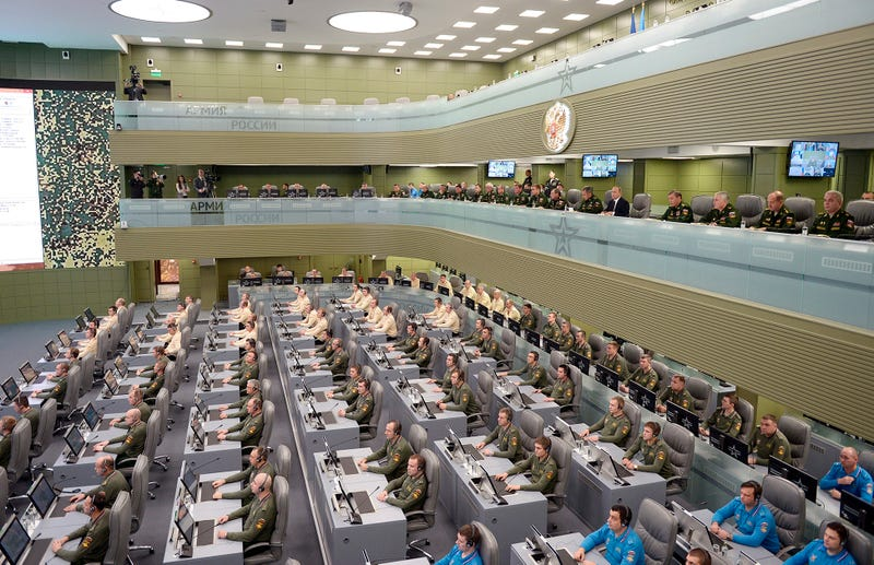 Illustration for article titled Look Inside Putin's Massive New Military Command And Control Center