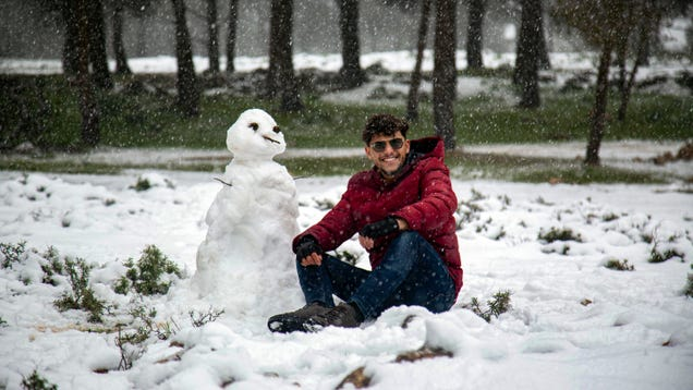 The Middle East Is Blanketed in Rare Snowfall