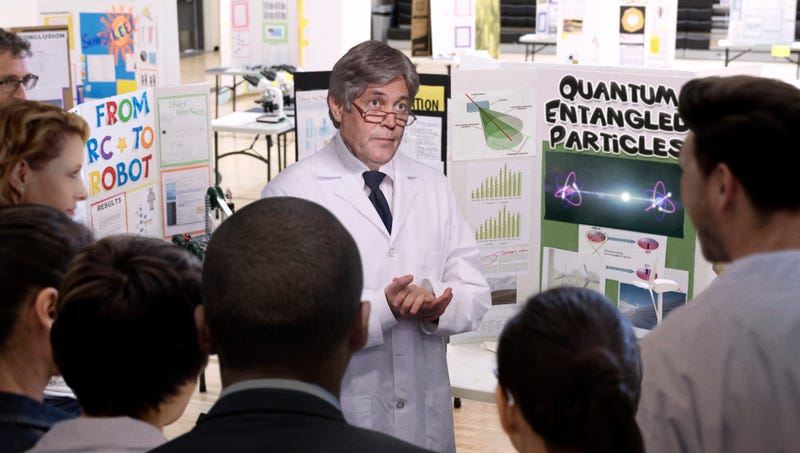 Illustration for article titled World's Leading Scientists Nervously Stand Next To Poster-Board Displays As Nobel Committee Walks Through Gymnasium