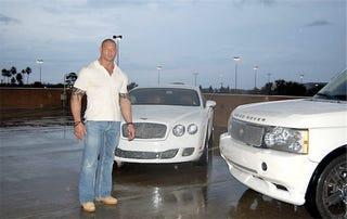 Illustration for article titled Wrestler's Bentley, Land Rover For Sale