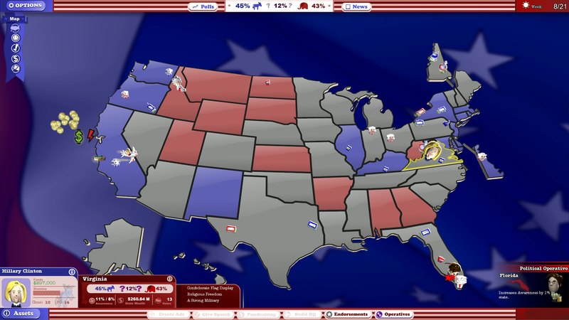Illustration for article titled We Are Simulating Today's Election Using A Video Game