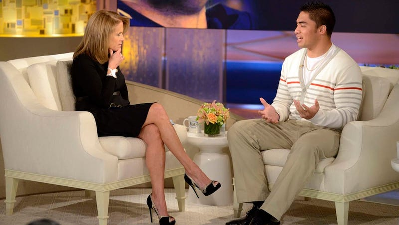 Illustration for article titled Manti Te'o Tells Katie Couric He Lied