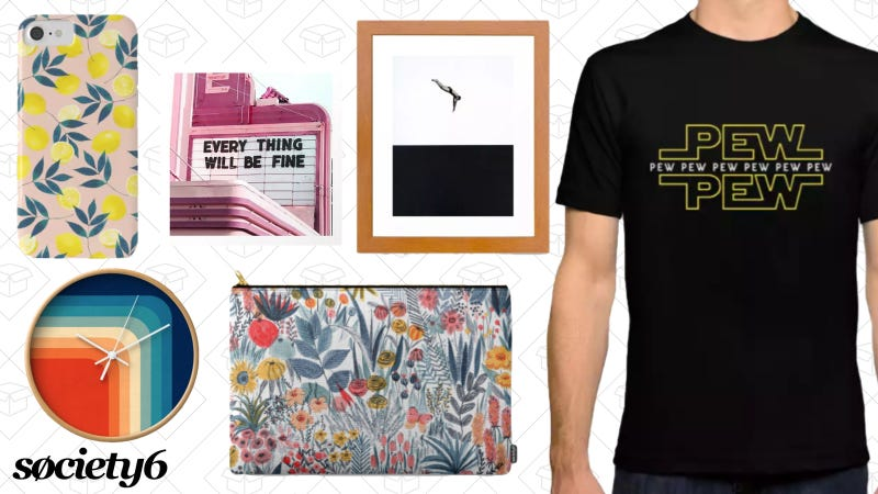 25% off sitewide   Society6   Use code APRIL25