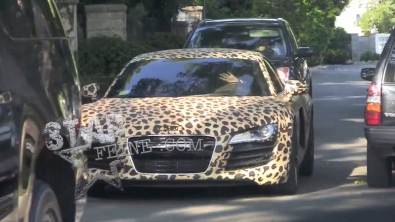 Mother Of God Justin Bieber Has A Leopard Print Audi R Now - Audi car decoration