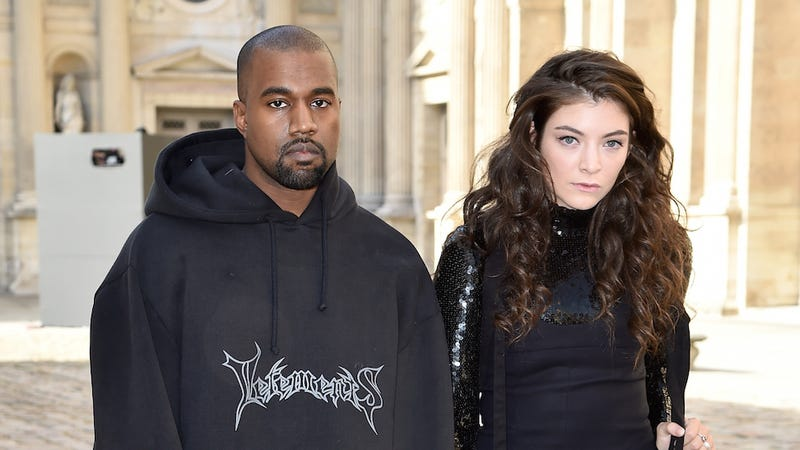 Illustration for article titled Goth Teens Lorde and Kanye West Are Thrilled to Be at the Dior Show