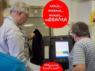 Illustration for article titled Voting Machine: No, You Really Meant to Vote for McCain