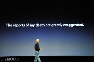 Illustration for article titled Steve Jobs Responds to Accusations of Dying