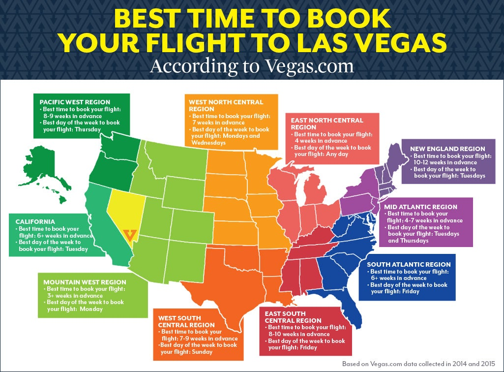 the best time to book a flight to vegas depending on where you live rh lifehacker com cheapest day to book a flight in advance cheapest day to book a flight 2017