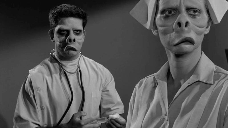 Splinterny Twilight Zone Mask From 'The Eye of the Beholder' Goes Up For Auction TM91