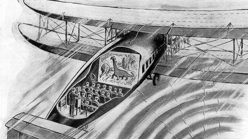 Illustration for article titled The First In-Flight Movies Had a Live Orchestra