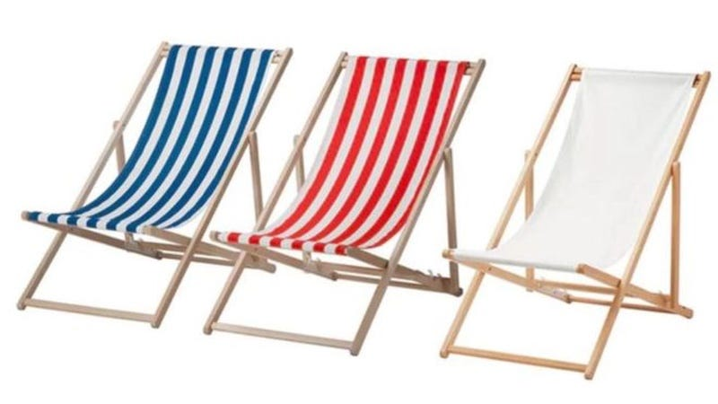 Ikea's Mysingsö model beach chairs  which have caused finger amputations and have now been recalled around the world. Image: Ikea