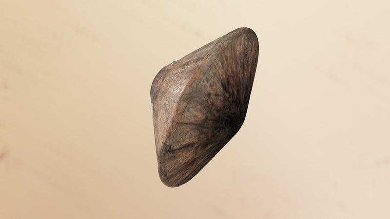 Schiaparelli's heat-scorched shield. (Credit: ESA/ATG Medialab)