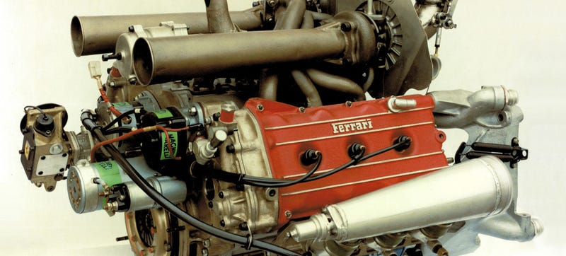 Illustration for article titled The Coolest 'Hot Vee' Turbo Engines