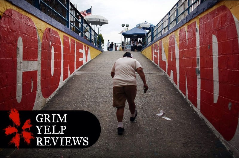 Illustration for article titled 'Too Much Shell Particles': Grim Yelp Reviews of America's Boardwalks