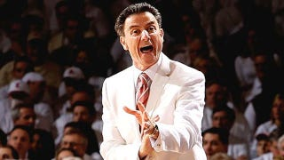 """Illustration for article titled """"I'm Not Coaching After 2017!"""" Rick Pitino Prematurely Ejaculates"""