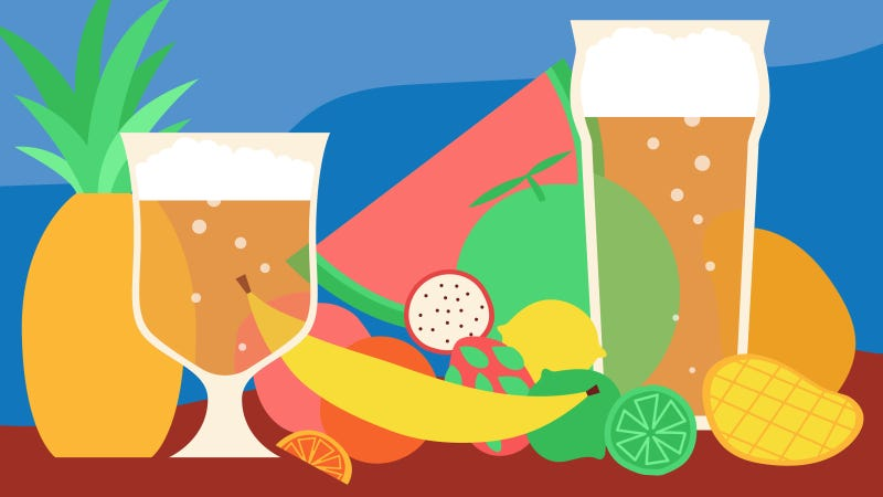 Illustration for article titled This summer is all about tropical beers inspired by fruit and tiki cocktails