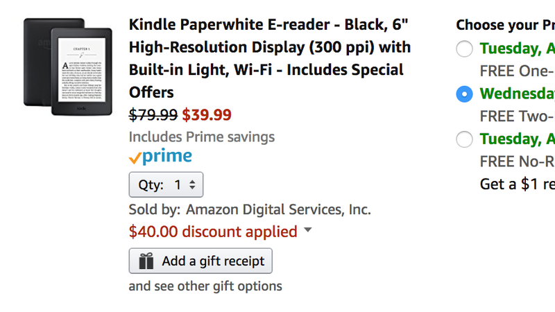 price mistake order a kindle paperwhite for 40 and hope it