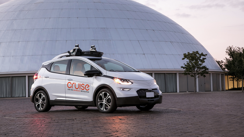 One of GM's self-driving cars.