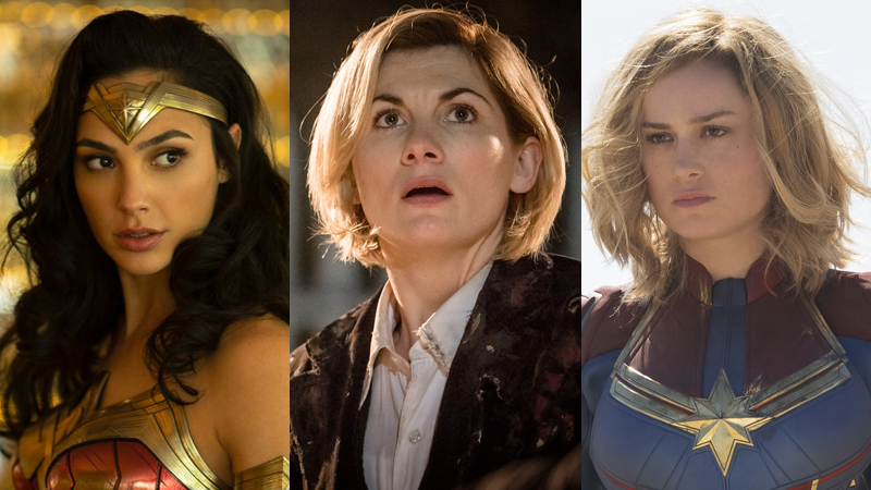 Wonder Woman, the new Doctor, and Captain Marvel are part of a major step forward for female heroes in genre entertainment.