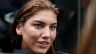 """Illustration for article titled Hope Solo """"Hints"""" That She'll Pose Nude"""