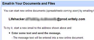 Illustration for article titled Upload Google Docs via email