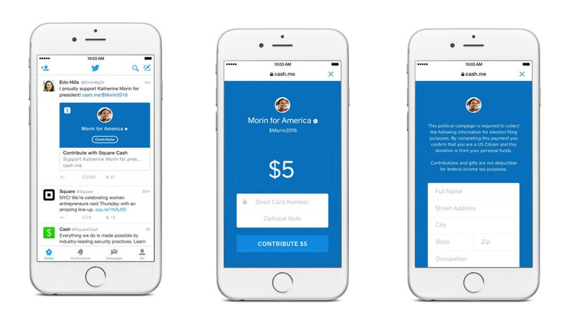 Illustration for article titled Twitter Teams Up With Square So You Can Donate Money Through a Tweet