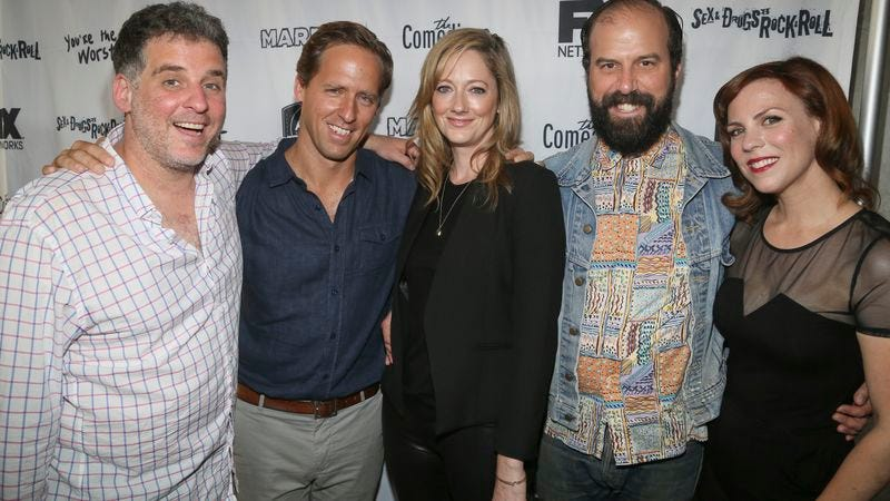 Gurland (left) with Married stars Nat Faxon, Judy Greer, Brett Gelman, and Sarah Burns
