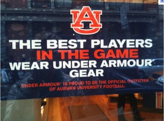 Illustration for article titled Pissed-Off Under Armour Employee Does Not Want To Work Full Friday After Auburn's Championship