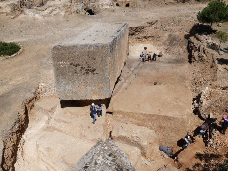 Illustration for article titled Archaeologists Discover The World's Largest Ancient Stone Block