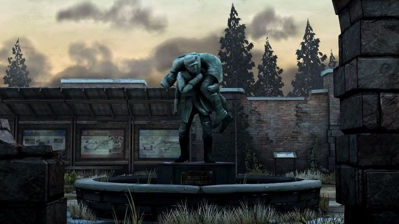 The Parker's Run Civil War Memorial in The Walking Dead: Season Two—Amid The Ruins. (Screenshot: The Walking Dead Wiki)