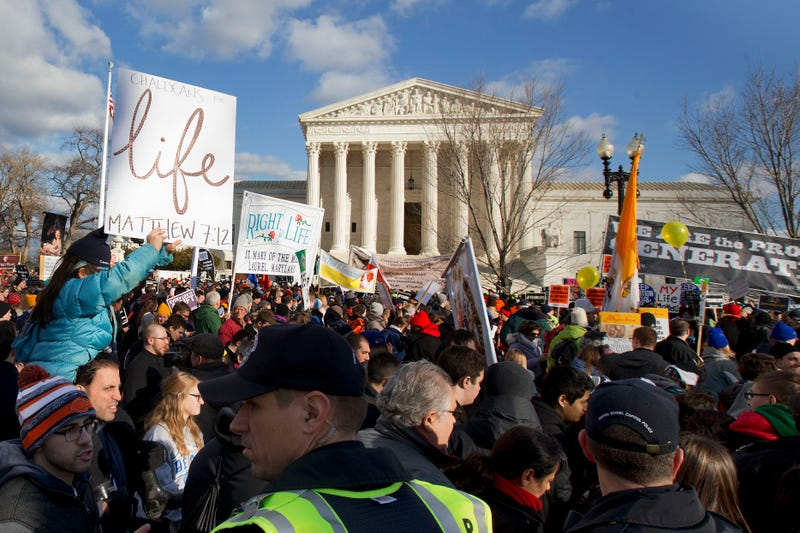 Anti-choice activists during the March for Life.