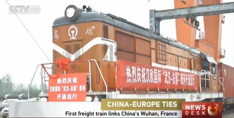Illustration for article titled Direct Train From China To France Starts 7,000 Mile Trip Today