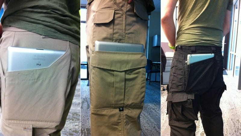 Illustration for article titled The Sad, Strange World of Tactical iPad 2 Pants