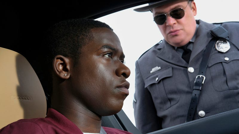 "Damson Idris and Glenn Fleshler in ""Replay."""