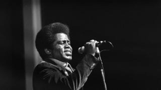 James Brown performs at Olympia Hall in Paris in September 1971.-/AFP/Getty Images
