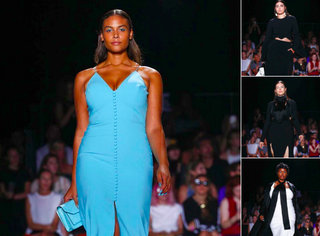 Plus-size models walk the Christian Siriano show at NYFW 2016.Twitter