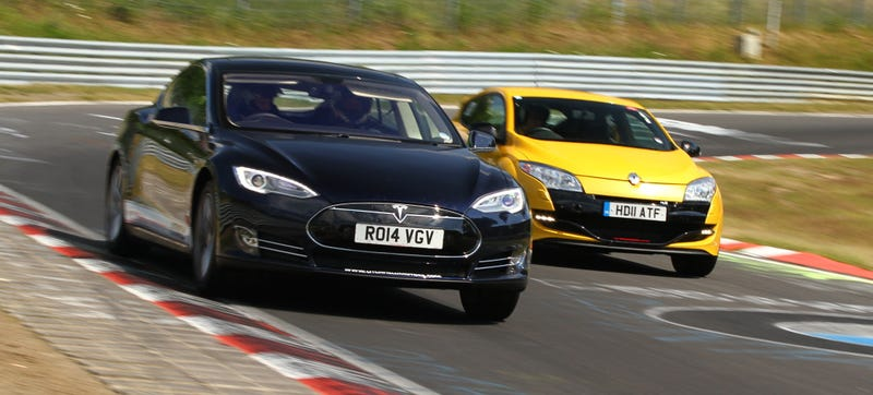 Illustration for article titled Here's What A Tesla Model S Can Do Around The Nürburgring