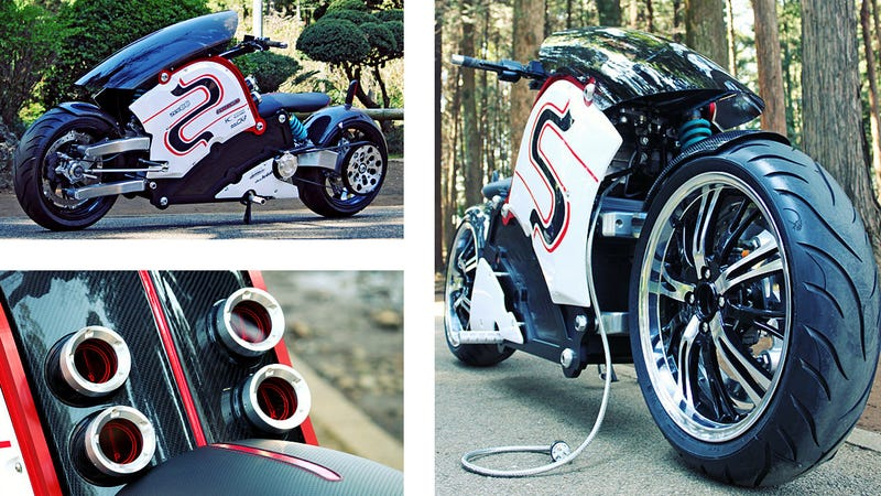 Illustration for article titled This Stunning Electric Bike Is Like a Jet Fighter On Two Wheels