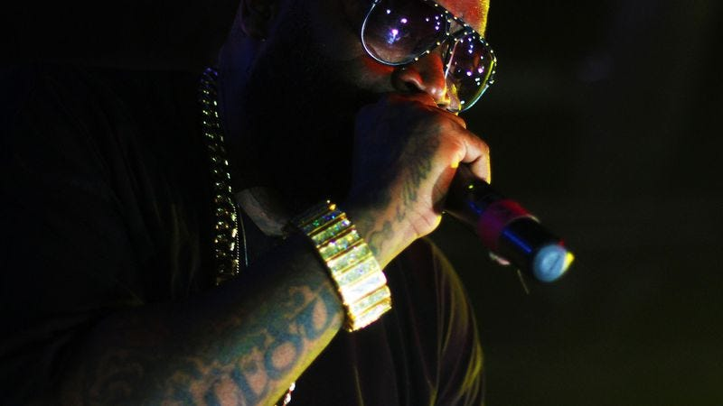 """Illustration for article titled Rick Ross takes Adele's call, releases """"Hello"""" remix"""