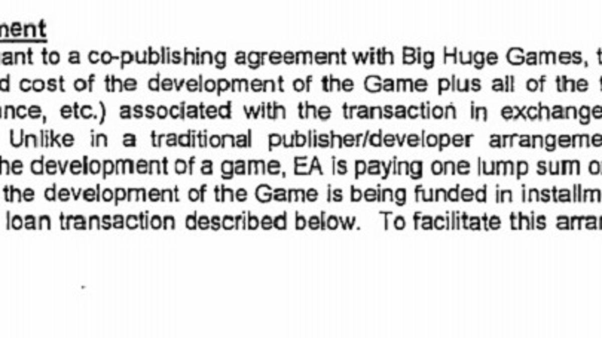 Here\'s What A Publishing Deal With EA Looks Like