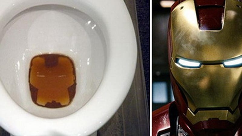 Illustration for article titled Iron Man Made of Pee Gets Student Top Art Prize