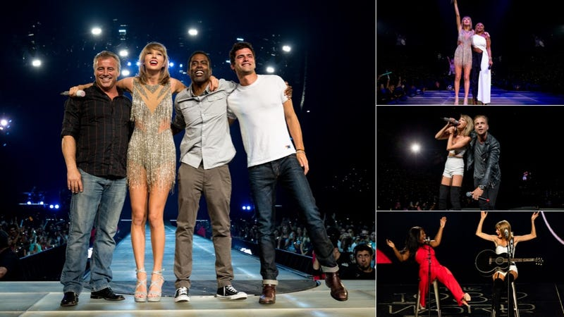 Illustration for article titled A Definitive Ranking of Taylor Swift's 1989 Tour Guests, From Most to Least Eager