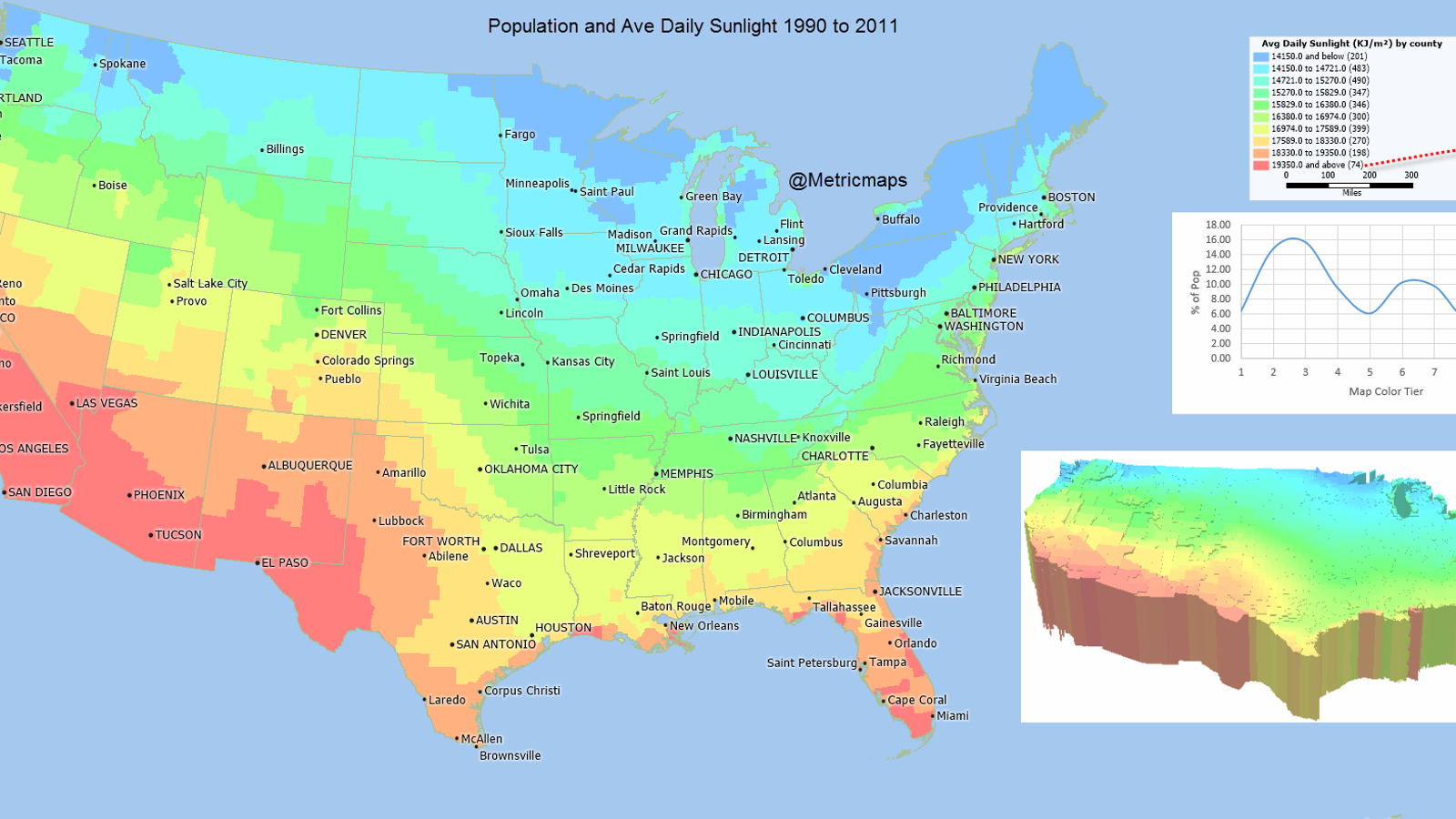 A map of where in the us you get the most sunlight gumiabroncs Image collections