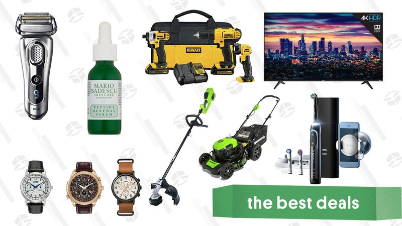 Illustration for article titled Monday's Best Deals: Greenworks Lawn Care Tools, OXO Coffee Grinder, Oral-B Toothbrushes, and More