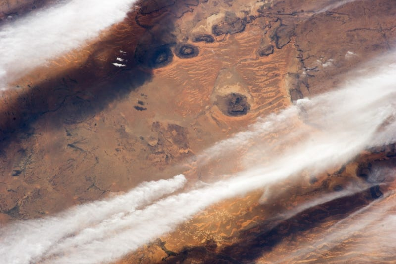 Illustration for article titled This space image of the Sahara feels more painting than photograph