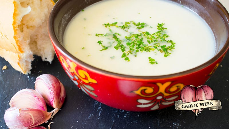 Illustration for article titled Make ajo blanco, the refreshing soup for die-hard garlic lovers and vampire haters
