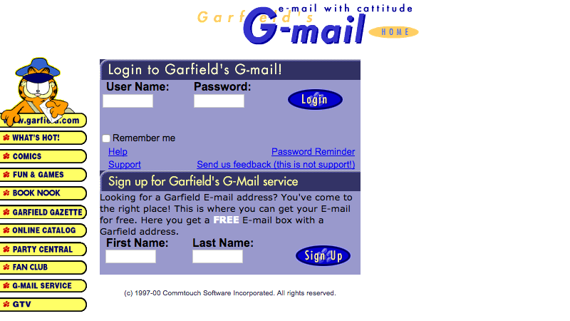 photo image The Original Gmail Was Garfield Mail
