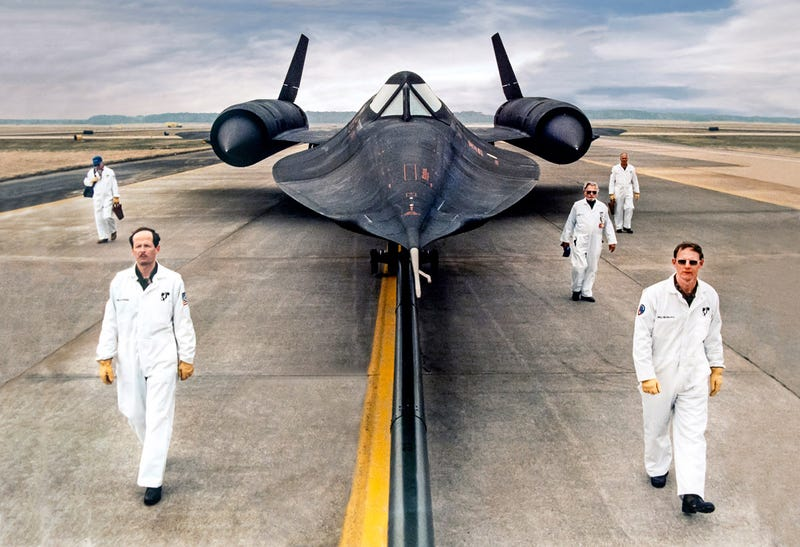 Illustration for article titled The secret engine technology that made the SR-71 the fastest plane ever